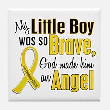 Angel 1 LITTLE BOY Child Cancer Tile Coaster