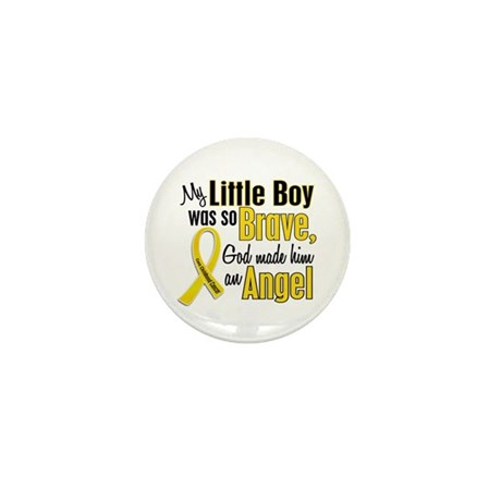 Angel 1 LITTLE BOY Child Cancer Mini Button (10 pa