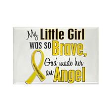 Angel 1 LITTLE GIRL Child Cancer Rectangle Magnet