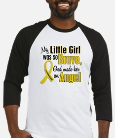 Angel 1 LITTLE GIRL Child Cancer Baseball Jersey