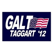 Galt Taggart 2012 Blue Rectangle Decal