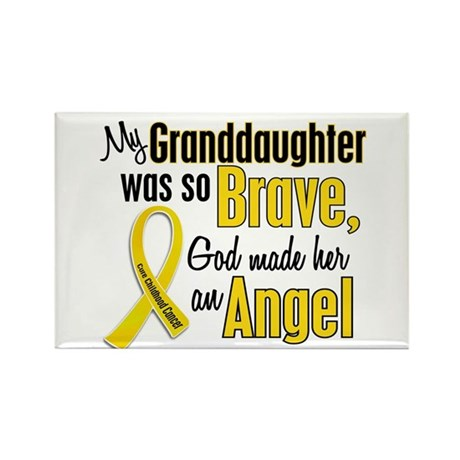 Angel 1 GRANDDAUGHTER Child Cancer Rectangle Magne