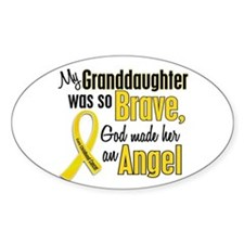 Angel 1 GRANDDAUGHTER Child Cancer Oval Decal