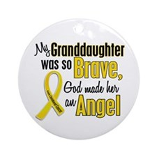 Angel 1 GRANDDAUGHTER Child Cancer Ornament (Round