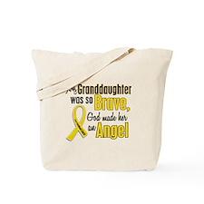 Angel 1 GRANDDAUGHTER Child Cancer Tote Bag