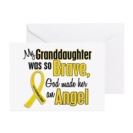 Angel 1 GRANDDAUGHTER Child Cancer Greeting Cards