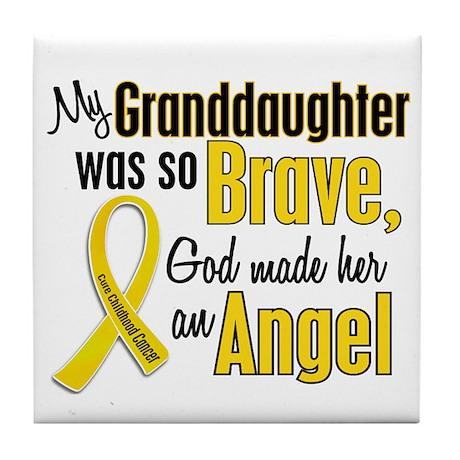 Angel 1 GRANDDAUGHTER Child Cancer Tile Coaster