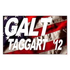 Galt Taggart 2012 Flag Rectangle Decal