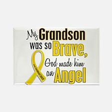 Angel 1 GRANDSON Child Cancer Rectangle Magnet
