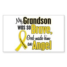 Angel 1 GRANDSON Child Cancer Rectangle Decal
