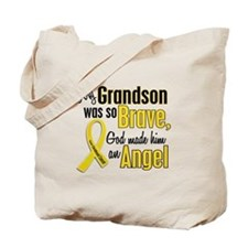 Angel 1 GRANDSON Child Cancer Tote Bag