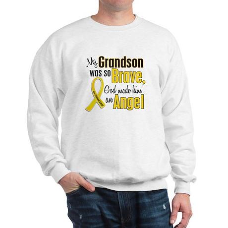 Angel 1 GRANDSON Child Cancer Sweatshirt