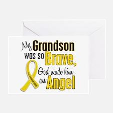 Angel 1 GRANDSON Child Cancer Greeting Card