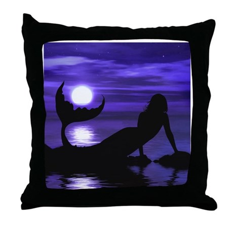 A Mermaid's Wish Throw Pillow