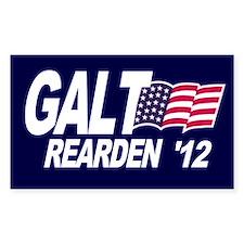 Galt Rearden 2012 Blue Rectangle Decal