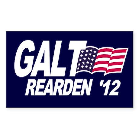Galt Rearden 2012 Blue Rectangle Sticker