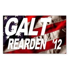 Galt Rearden 2012 Flag Rectangle Decal