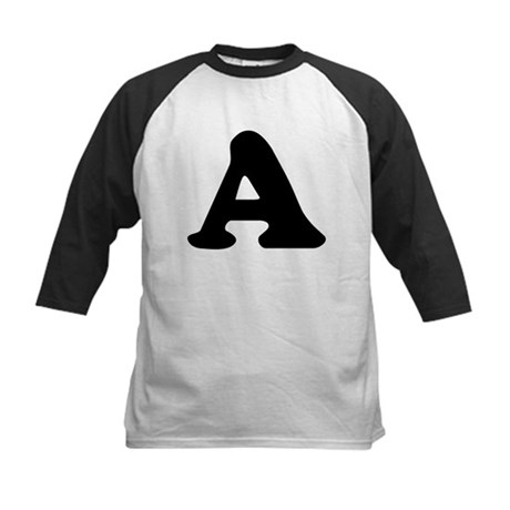 Large Letter A Kids Baseball Jersey