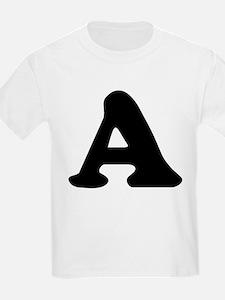 Large Letter A Kids T-Shirt