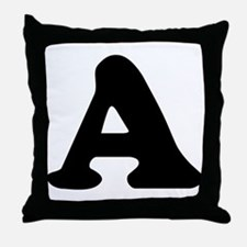 Large Letter A Throw Pillow