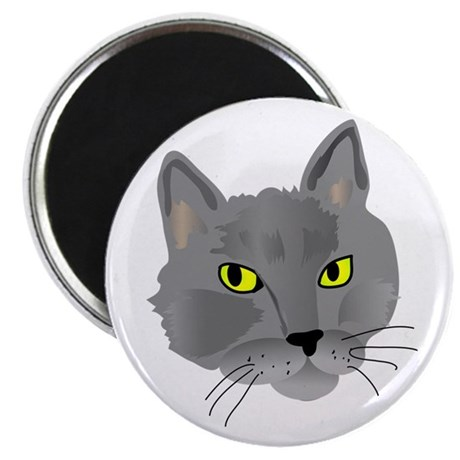 "Gray Cat 2.25"" Magnet (100 pack)"