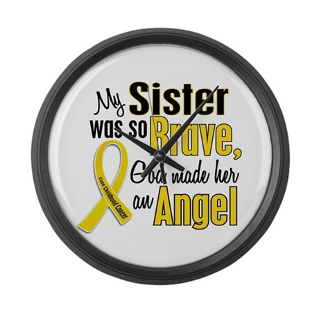 Angel 1 SISTER Child Cancer Large Wall Clock