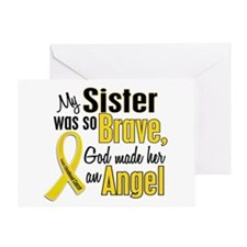 Angel 1 SISTER Child Cancer Greeting Card