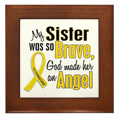 Angel 1 SISTER Child Cancer Framed Tile