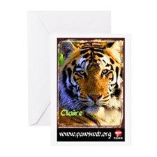 Claire the Tiger Greeting Cards (Pk of 10)