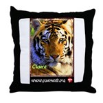 Claire the Tiger Throw Pillow