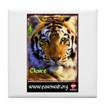 Claire the Tiger Tile Coaster