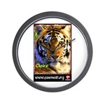 Claire the Tiger Wall Clock
