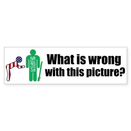 What's wrong? Bumper Sticker