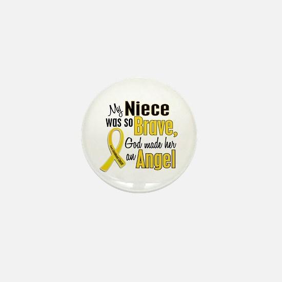 Angel 1 NIECE Child Cancer Mini Button