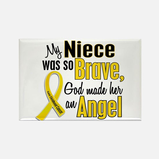 Angel 1 NIECE Child Cancer Rectangle Magnet