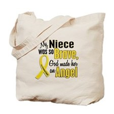 Angel 1 NIECE Child Cancer Tote Bag