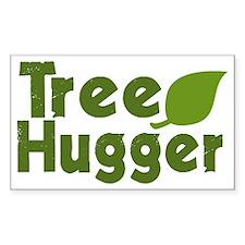 Tree Hugger Rectangle Decal
