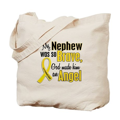 Angel 1 NEPHEW Child Cancer Tote Bag