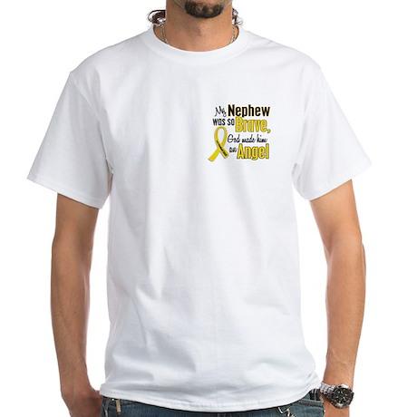 Angel 1 NEPHEW Child Cancer White T-Shirt