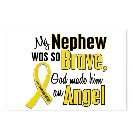 Angel 1 NEPHEW Child Cancer Postcards (Package of
