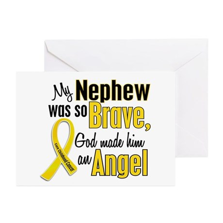 Angel 1 NEPHEW Child Cancer Greeting Cards (Pk of