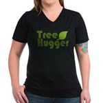 Tree Hugger Women's V-Neck Dark T-Shirt