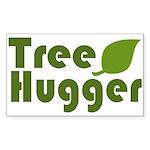 Tree Hugger Rectangle Sticker