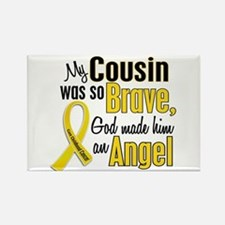 Angel 1 COUSIN Child Cancer Rectangle Magnet