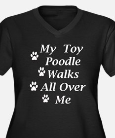 2-toy_poodle_walks copy Plus Size T-Shirt