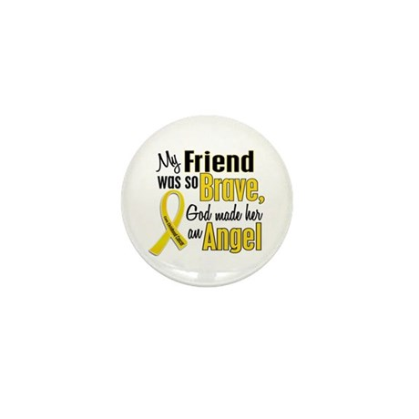 Angel 1 FRIEND Child Cancer Mini Button (10 pack)