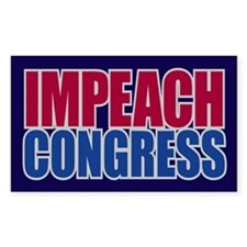 IMPEACH CONGRESS Rectangle Decal