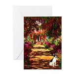 Path / Rat Terrier Greeting Card