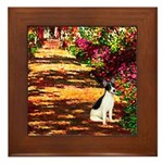 Path / Rat Terrier Framed Tile