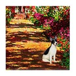 Path / Rat Terrier Tile Coaster